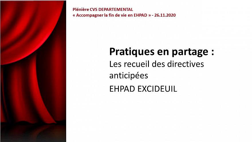 Les pictos de recueil des directives anticipées - EHPAD du CH d'EXCIDEUIL
