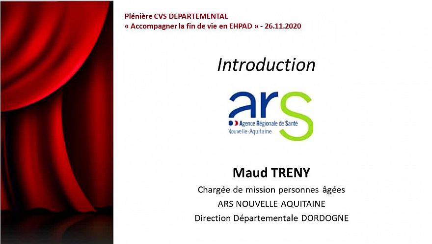 PLENIERE CVS DEPARTEMENTAL 2020 - SEQUENCE 2  Introduction ARS DORDOGNE -